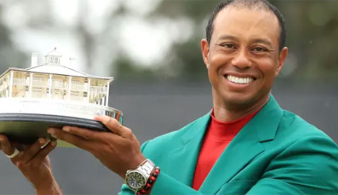 'I'm just lucky to be able to do this again': Tiger Woods on fifth Masters win – video