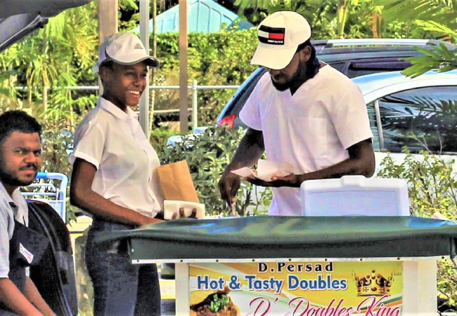 D. Persad Hot and Tasty Doubles at Bay Road, La Romaine.